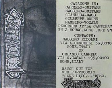 Rehearsal Tape (demo) (as Catacomb)